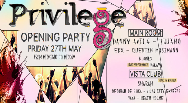 Privilege ibiza opening party confirma el cartel para el 27 de mayo.