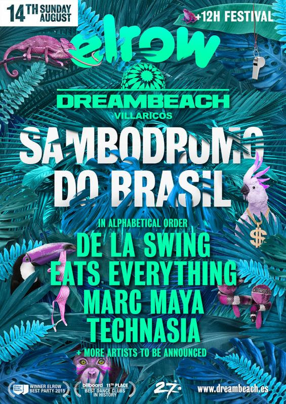 ELROW DE DREAMBEACH AVANZA SU LINE UP