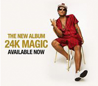 "BRUNO MARS LLEGA A ESPAÑA EN ABRIL CON SU GIRA ""THE 24K MAGIC WORLD TOUR"""