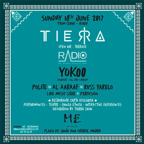 YokoO actuará en TIERRA en la azotea del Hotel Me Madrid