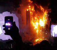 Las llamas devoran el escenario de Tomorrowland en Barcelona