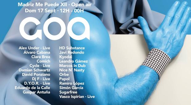 GOA vuelve a Fabrik el domingo 17 de septiembre de la mano de Madriz Me Puede