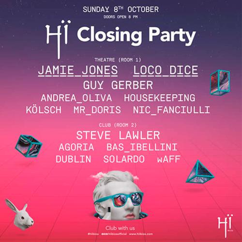 Hï Ibiza anuncia el cartel de su Closing Party