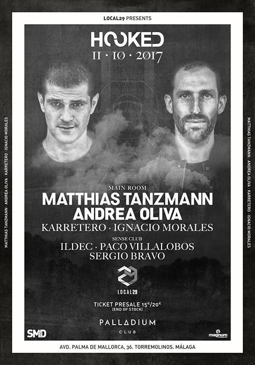 Matthias Tanzmann, Andrea Oliva y Karretero protagonistas de la nueva cita de HOOKED