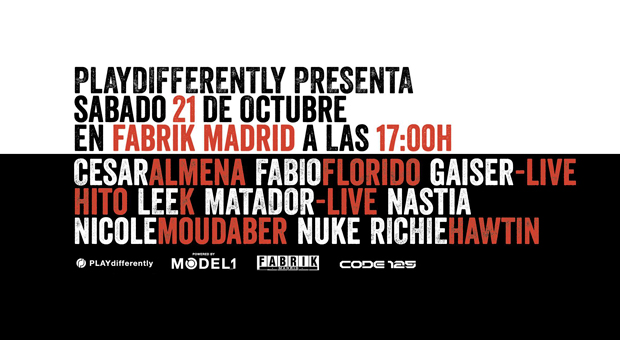 "Richie Hawtin presenta ""PLAYdifferently"" en Fabrik"