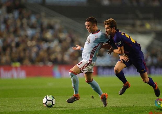 Iago Aspas puso contra las cuerdas al Barcelona