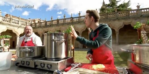 Caótica prueba grupal de los concursantes de Master Chef en Salamanca