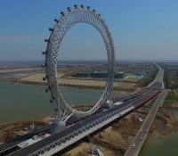 La noria sin radios más grande del mundo se encuentra en China