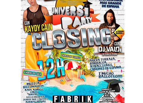 FABRIK CLOSING UNIVERSIPARTY
