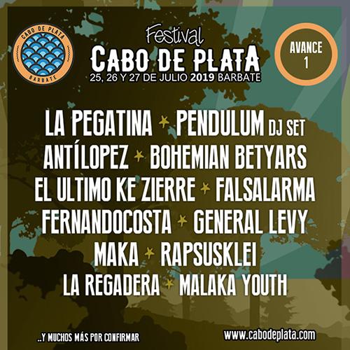 Pendulum Dj Set, La Pegatina, Maka y General Levy confirmados para el Festival CABO DE PLATA entre otros.