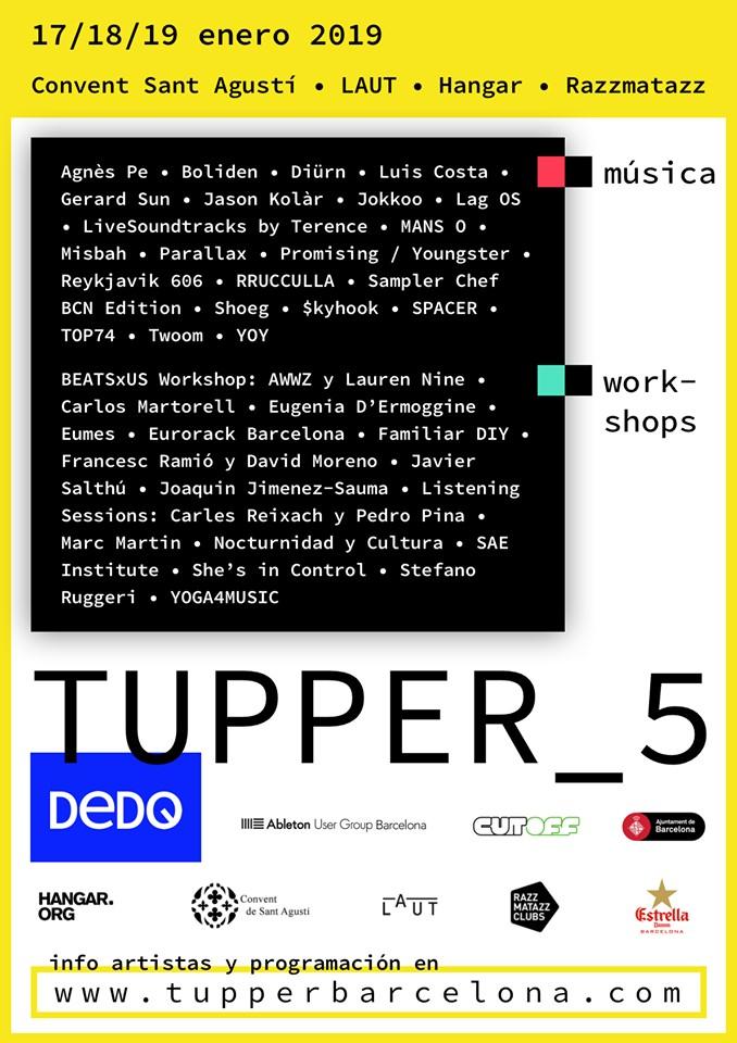 Llega a Barcelona la 5ª edición de TUPPER los días 17, 18 y 19 de enero.