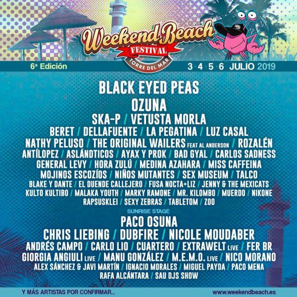 Black Eyed Peas : confirmados para el Weekend Beach Festival Torre del Mar