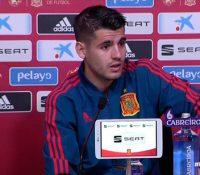 La rueda de prensa de Morata