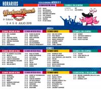 Weekend Beach Festival hace públicos sus horarios por escenarios y días