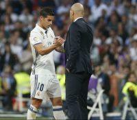 James vuelve a verse las caras con Zidane