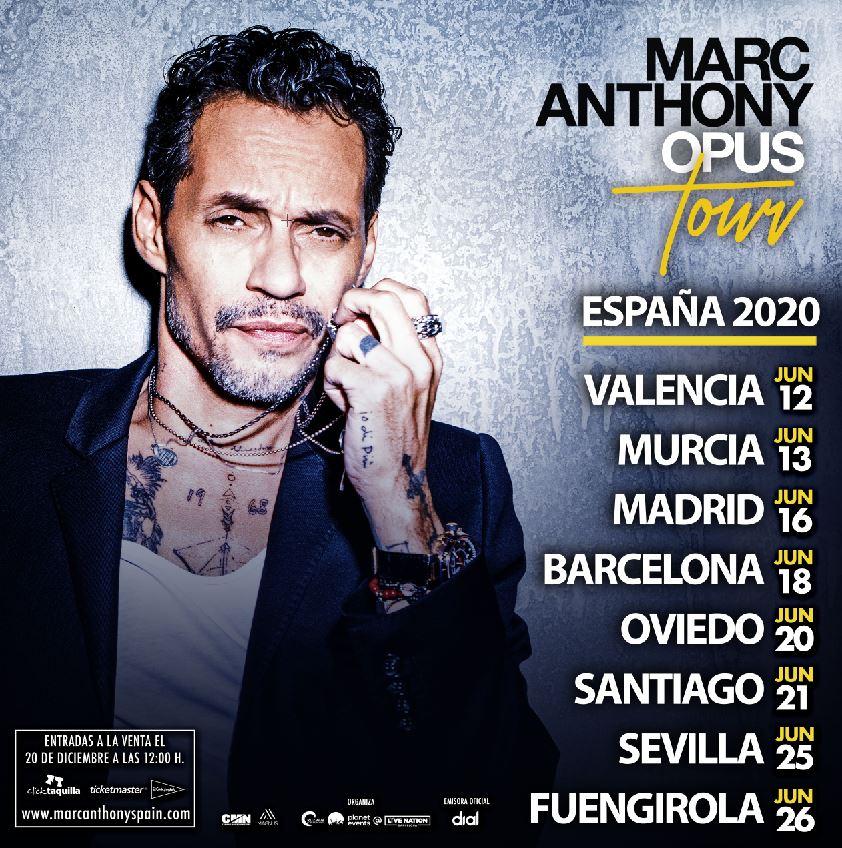 Marc Anthony presenta su Opus Tour