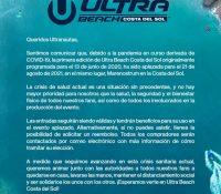 Ultra Beach cancelado