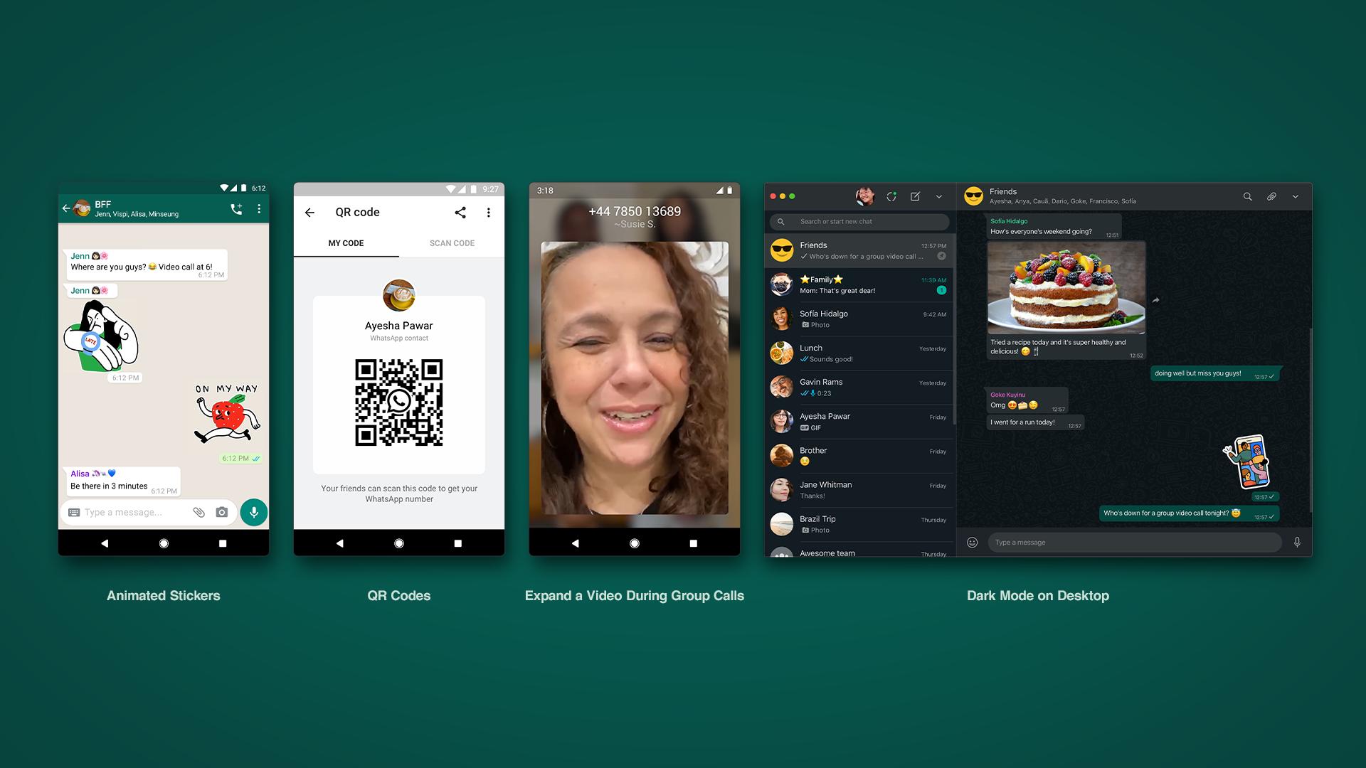 WhatsApp estrena los 'stickers' animados y los códigos QR para nuevos contactos