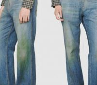 Nueva tendencia de Gucci: Jeans con manchas de hierbas