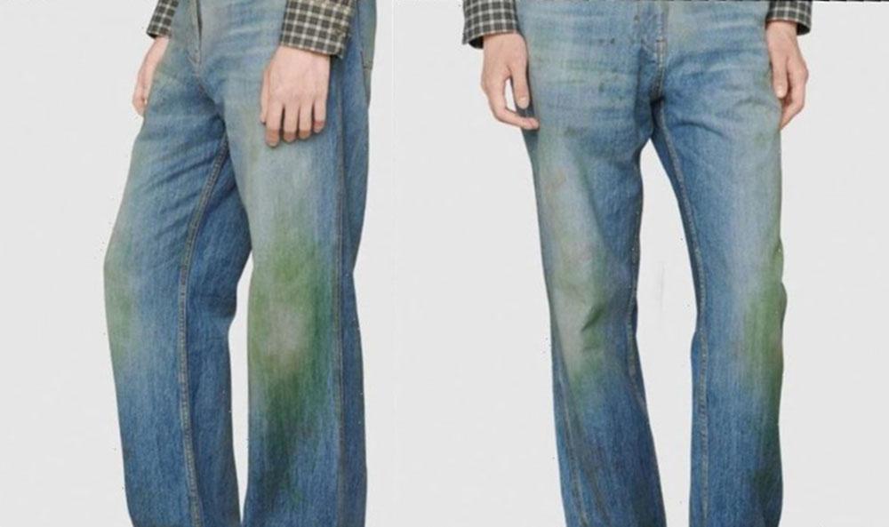 Nueva Tendencia De Gucci Jeans Con Manchas De Hierbas Unika Fm