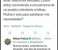 La cómica respuesta de la policía de Bilbao