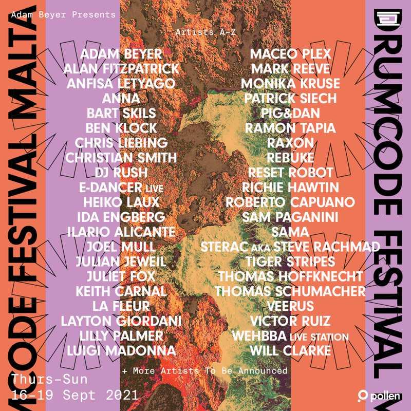 Adam Beyer y Drumcode anuncian un festival en Malta en 2021
