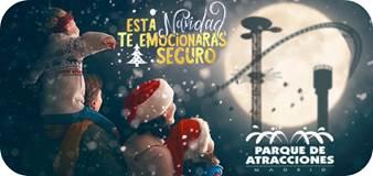 Celebra unas Navidades seguras en el Parque de Atracciones