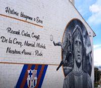 Así es el espectacular grafiti en Seva para conmemorar a Cruyff