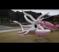 Una ciudad de Japón gasta más de 200.000 euros en la estatua de un calamar gigante