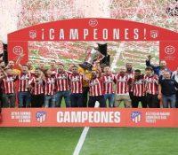 El Atlético celebra el título de Liga en el Metropolitano