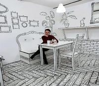 Café en dos dimensiones en Rusia