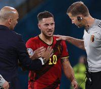Hazard se lesiona en la Eurocopa