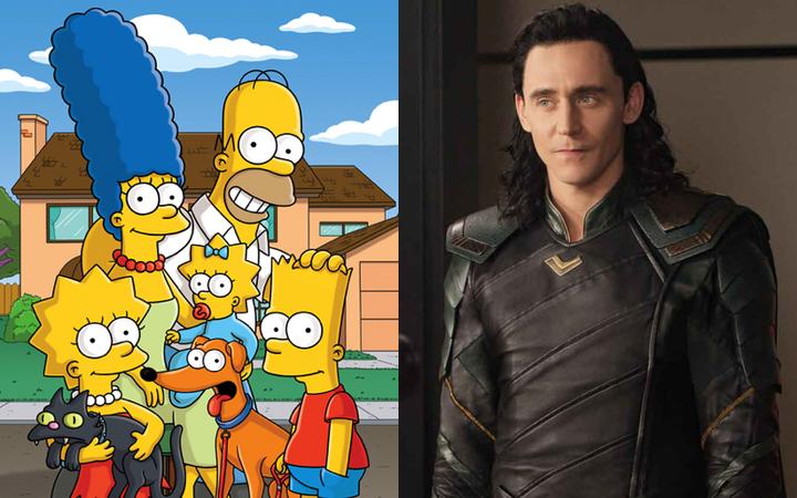 Así es el poster del cruce de 'Los Simpsons' y Tom Hiddleston como Loki