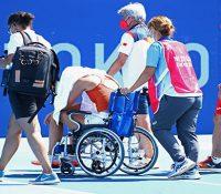 Condiciones extremas en las pistas de tenis olímpicas