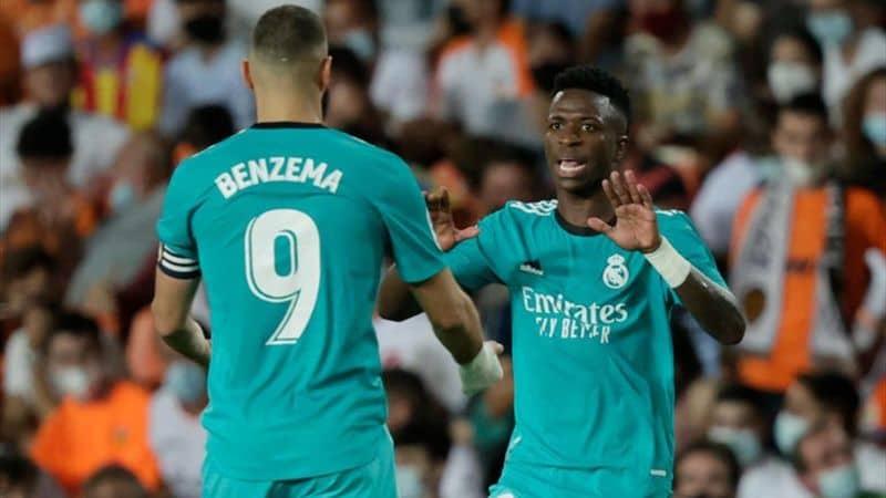 Vinicius, Benzema y Ancelotti tridente perfecto