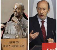 El polémico busto a Rubalcaba: no se le parece nada